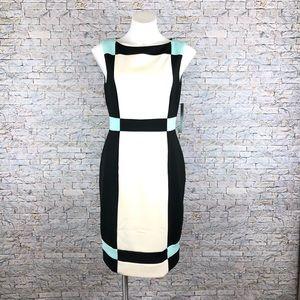 New Maggy London Colorblock Skylight Sheath Dress